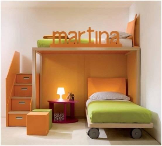 Комплект детской мебели, двухуровневая кровать
