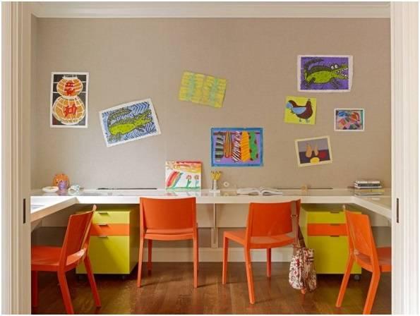 Рабочие места в детской комнате