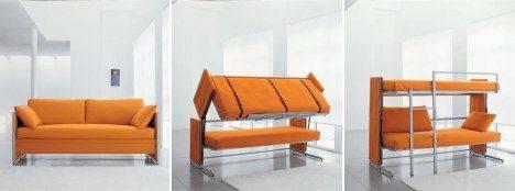 раскладной диван, двухярусная кровать