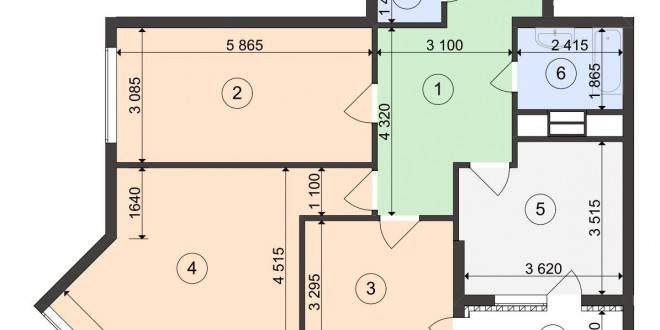 план квартиры с большим холлом