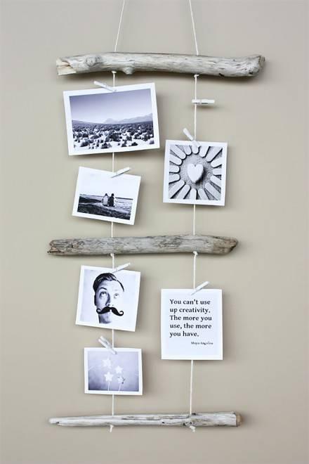 снимки и поделки на стене