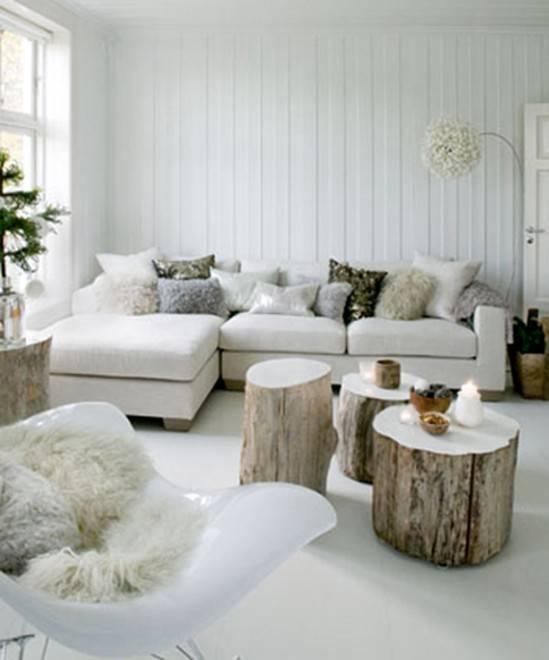 светлая комната в зимнем стиле