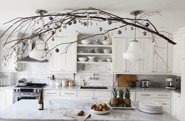 новогоднее украшение на кухне