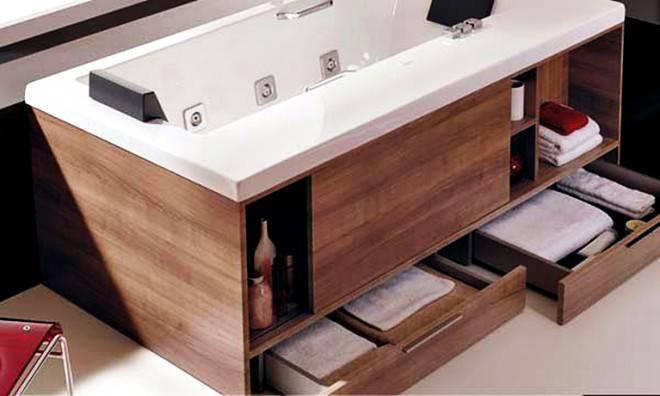 встроенная мебель под ванну