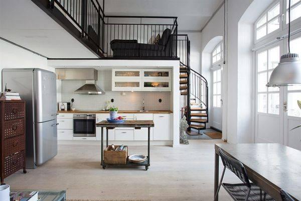 кухня в стиле мини-лофт