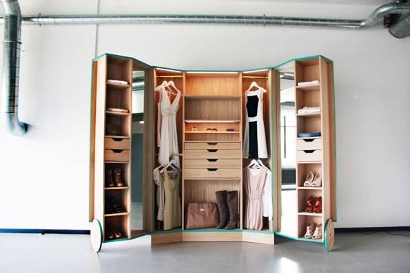 пример гардероба от дизайнера