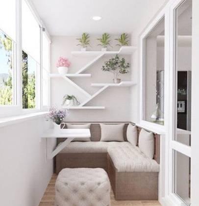 Lounge-зона на балконе