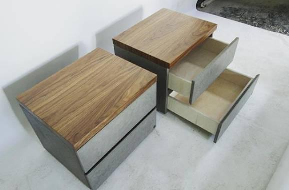 пример мебели из бетона