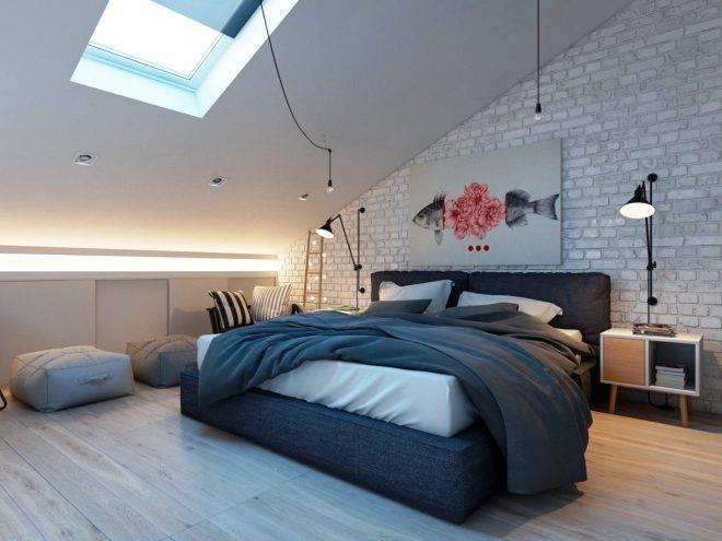 мансардные окна в спальне