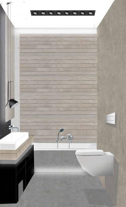 Гостевой туалет стена 1