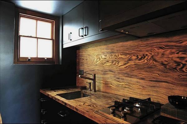 Деревянный кухонный фартук