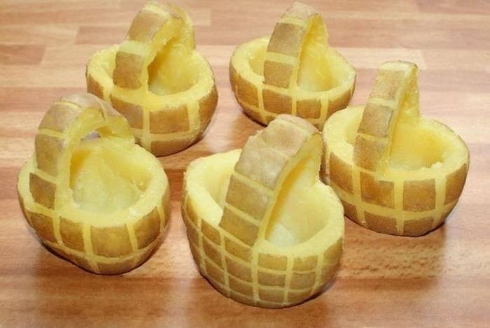 Корзинки из картофеля