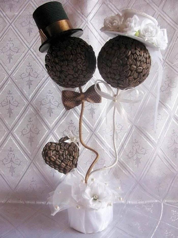 Кофейный топиарий свадебный
