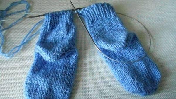Вязание носков на круговых спицах